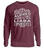 Hochwertiger Unisex Pullover - BEVOR I MI AUFREG - Bayerisch · Boarisch · bayrisch · Shirt · lustig · Spruch · Pulli · Jacke · Hoodie · T-Shirt · Geschenk