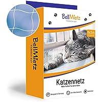 BellMietz Katzennetz für Balkon und Fenster | Extragroßes 8x3m Katzen-Schutznetz | Inkl. 25m Befestigungsseil | Balkonnetz mit GRATIS Ebook (8x3m)