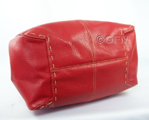 GFM Fashion, Borsa a secchiello donna .Bright Red (VLL-01)