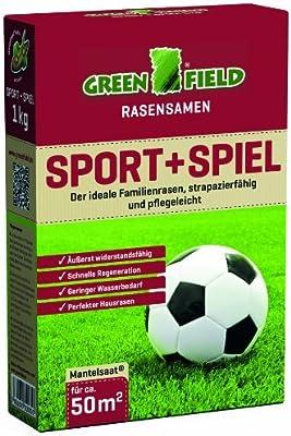 Greenfield 62111 Sport + Juego 1 kg Semillas de césped semillas de césped para aprox. 50 qm