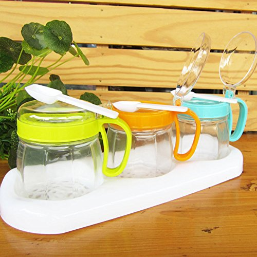 insieme di vaso di ceramica delle spezie/Sealed jar nella copertura sezione cucina/casella di casa spezia/scatola metallica]/condimento bottiglie-A