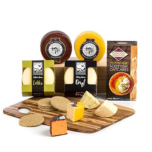 Preisvergleich Produktbild Hay Hampers,  Ein Regenbogen von britischen Cheddar Käsesorten Picnickorb Geschenk