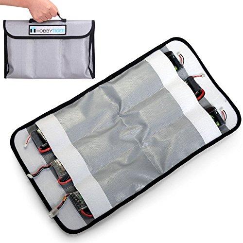 Preisvergleich Produktbild Hobbytiger 6-Fächer Feuerfeste Lipo Tasche Fireproof Sicheres Aufladen Aufbewahren Beutel. (Double side proof)