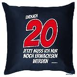 bedrucktes Geburtstag Sofa Kissen: 20 Jahre Birthday Geschenk Dekokissen Couchkissen Sofakissen Goodman Design