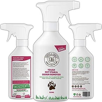 C&G Pets - Détachant anti-taches et odeurs pour animaux de compagnie - 1 litre - Formule végétale - Enzymes naturels - Anti-bactérien - Prévient les marques - Détruit les taches organiques