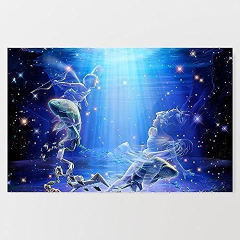 Constellation garçon et fille Image imprimée sur Impression sur toile–Décoration murale–Photo–Photo 45,7x 71,1cm