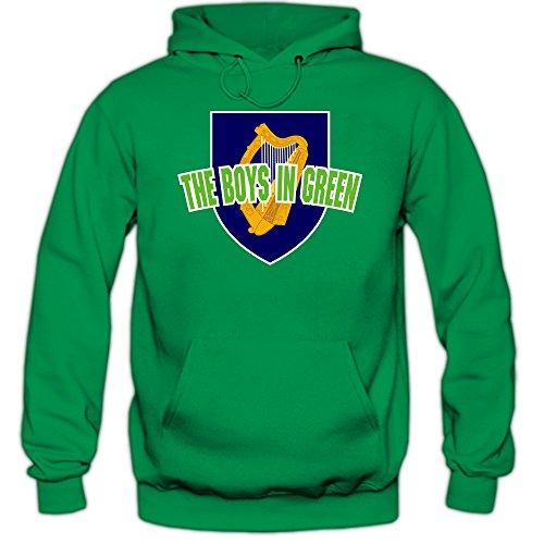 Shirt Happenz Irland WM 2018#4 Hoodie | Fußball | Herren | Éire | The Boys in Green | Trikot | Nationalmannschaft, Farbe:Hellgrün (Kellygreen F421);Größe:S -