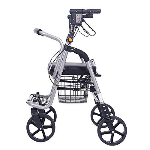 QINAIDI Älterer Karren Lebensmittel Walker Transportmittel Vier Runden Kann Sitzen Klapp Leichter Rollstuhl Old Man Trolley