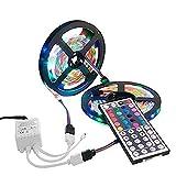 10M LED Strip Licht, EONSMN 3528 Wasserdichte 600 LEDs SMD RGB Farbe Ändernde Flexible Seil Lichter Lampe mit 44 Key IR Fernsteuerpult (2 x 5M)