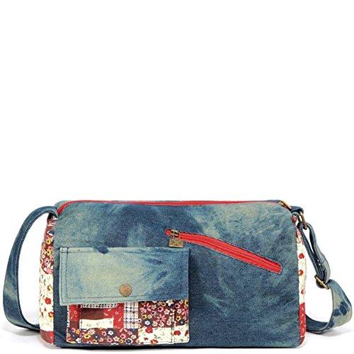 borsa di tela Ms./Denim Messenger Bag Vintage/borse Ms.-A A