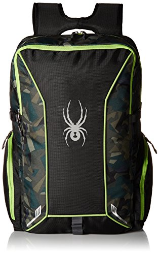 Spyder Kid 's Action Rucksack, Jungen, Black/Guard Camo Print/Fresh -