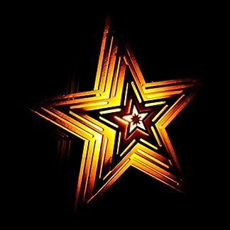 LED Madera Estrella Estrella de Navidad Iluminado 15X 14X 5,2cm, con Ventosa navideño con