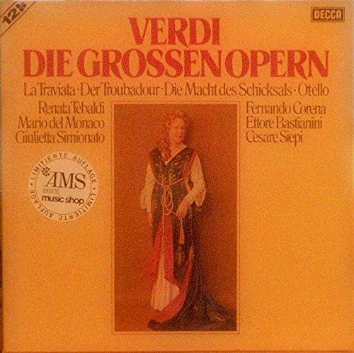 Verdi Die Grossen Opern, La Traviata, Der Troubadour, Die Macht des Schicksals, Otello, (VINYL-BOX) Geneve Music Box