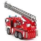 Bruder 02771 - MAN Feuerwehr mit Drehleiter, Wasserpumpe und Light & Sound Modul Test