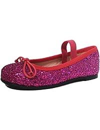 Spanische Pretty Ballerinas Leder Glitzer pink