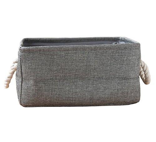 Starsglowing Wäschekorb Aufbewahrungskorb mit Griff Schrank Organizer Aufbewahrungsbox für Kleidung Handtücher Bettwäsche (Small, Grau)