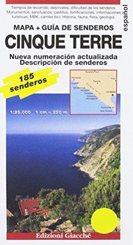 Cinque Terre. Mapa + Guía de senderos. 185 senderos, escala 1:25.000