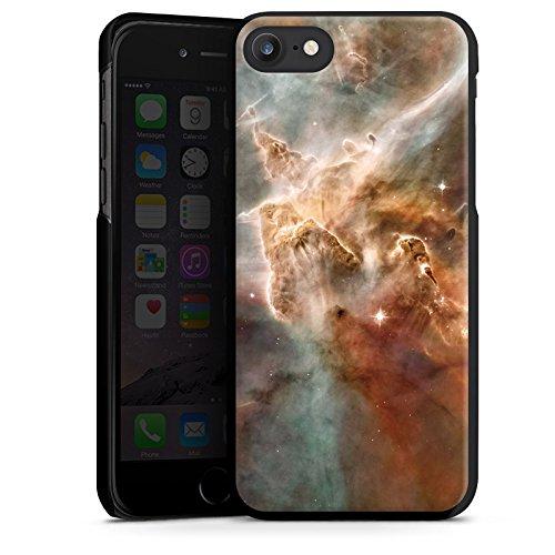 Apple iPhone X Silikon Hülle Case Schutzhülle Sterne Space Muster Hard Case schwarz