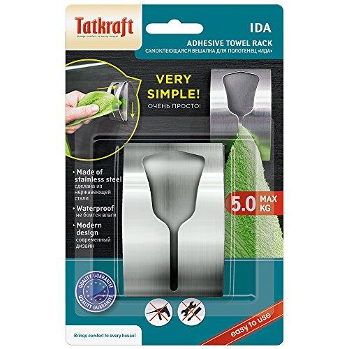 confronta il prezzo Tatkraft Ida, Porta Asciugamani Adesivo, Robusto, in Acciaio Inossidabile, Argento miglior prezzo