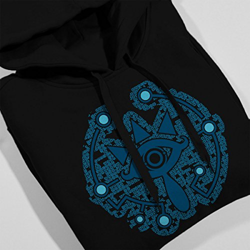 Legend Of Zelda Magic Sheikah Slate Women's Hooded Sweatshirt Black