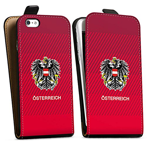 Apple iPhone X Silikon Hülle Case Schutzhülle Österreich EM Trikot Fußball Europameisterschaft Downflip Tasche schwarz