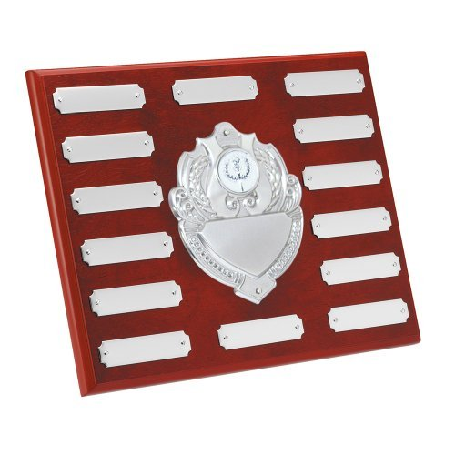 8-x-10-annual-shield-with-free-engraving-up-to-30-letters-per-plate-center-disc-can-be-changed-to-su