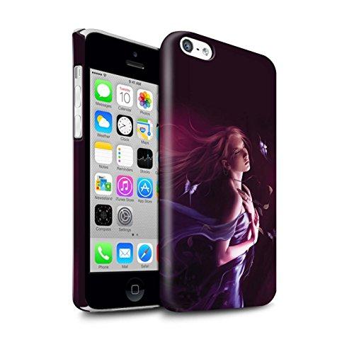 Officiel Elena Dudina Coque / Clipser Brillant Etui pour Apple iPhone 5C / Cerises Rouges Design / Un avec la Nature Collection Par le Vent