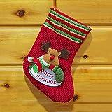Gmgqsago Calze di Natale, Babbo Natale/Pupazzo di Neve/Alce calzino Calza Caramelle Borsa Regalo Decorazione di Natale–Pupazzo di Neve Elk