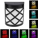 1 PCS RGB Solar Lámparas de Pared Exterior, Coquimbo de Color Estática/Cambio de Color La Energía...