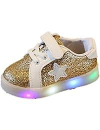 Elecenty Regalo Bambino Scarpe LED Stella Sportive Bambini Ragazzi Ragazza Scarpe  con Luce Luminose Sneakers f5aab368df0