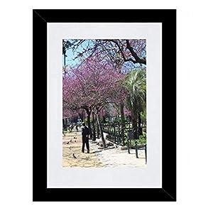 Bilderrahmen Fotorahmen 40x60 cm Schwarz bilderrahmen zum aufhängen MDF Picture Frames Farbe und 40 Verschiedene Größen wählbar ohne Passepartout Rahmen Aliyah