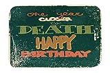 LEotiE SINCE 2004 Fuß Hunde Matte Bett Geburtstagskarte Fun Glückwunsch Bedruckt 40x60 cm