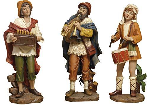 Paben set 3 personaggi musicisti presepe 15 cm in resina by