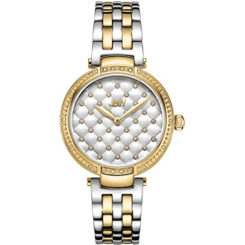 JBW Women's Gala Diamond 34mm 18K Gold Plated Case Swiss Quartz Watch J6356D