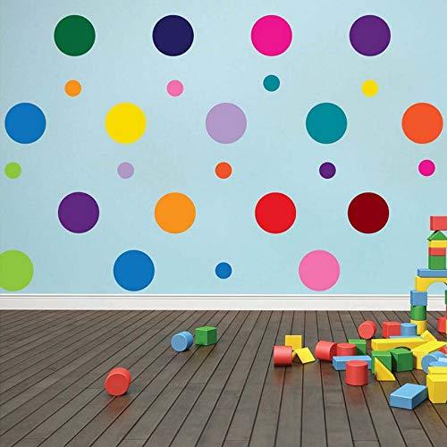 ti Farbe Größe Konfetti Polka Dots Kreise Vinyl Aufkleber Wandaufkleber Wohnkultur Kinderzimmer Dekoration Vinyl Kunst Wandbilder ()