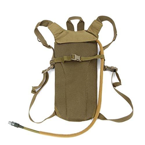 F@UniGear idratazione zaino idratazione Pack tactical Pack Hydra idratazione della vescica con bere tubo zaino con le bolle di acqua 2.5 l ideale per escursionismo, ciclismo jogging, passeggiate, arra Black