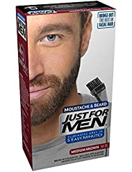 Just For Men Pflege Brush In Color Gel für Bart, Schnurrbart, Mittelbraun, M35
