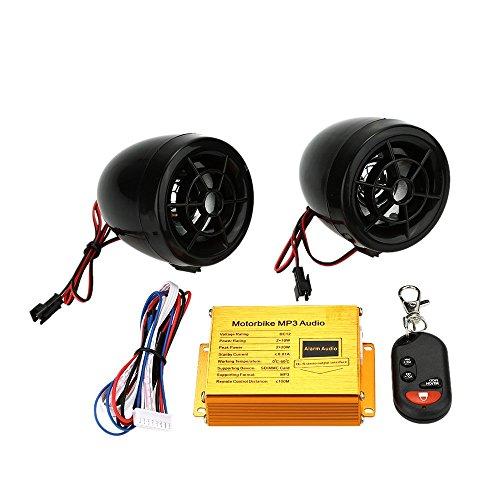 kkmoon Motorrad Bike MP3 Player Lautsprecher Audio BT Sound System FM Radio Sicherheit Alarm drahtlose Fernbedienung mit USB SD/MMC Slot