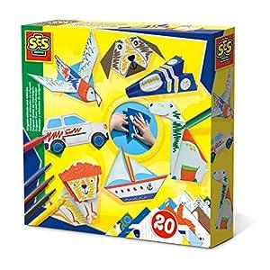 SES Creative Animales y vehículos de Origami - Sets Origami para niños (5 año(s), Países Bajos, CE, 200 mm, 40 mm, 200 mm)