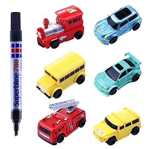 Induktive Cars Follow Black Line Magic Mini Pen Induktive Truck Spielzeug Fahrzeuge Kleinkind Kids Kinder Geschenk (zufällige Stil und Farbe Lieferung)