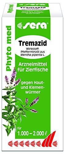 sera 45134 Phyto med Tremazid - Arzneimittel für Zierfische gegen Haut- und Kiemenwürmer, 100 ml
