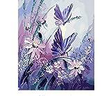 Malen Nach Zahlen Minion Butterfly DIY Handgemaltes Bild Abstraktes Ölgemälde Auf Leinwand Für Wohnzimmer 40x50cm Gerahmt Framed