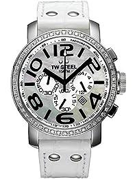 TW Steel Unisex-Armbanduhr Chronograph Leder TW-804