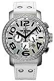 TW Steel Unisex-Armbanduhr Grandeur Chrono Chronograph Quarz Leder TW804