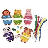 B Blesiya Animal Montessori Animal Cadena de Juguete para Bebés Niños Desarrollo de Inteligencia