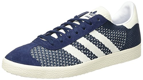 adidas Originals Herren Gazelle Primeknit Sneaker, Blau (Nemesis/Off White/Chalk White), 43 1/3 EU (Sportliche Adidas Wrap)