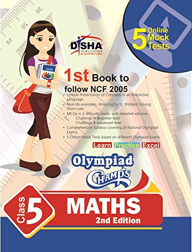 Olympiad Champs Mathematics Class 5 with 5 Mock Online Olympiad Tests