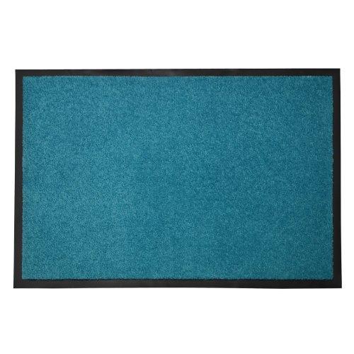 casa pura® Premium Fußmatte in attraktiver Optik | Schmutzfangmatte in 5 Größen | türkis | 120x180cm