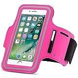Apple iPhone Jogging Tasche Handy Hülle Sportsocken Fitnesstasche Lauf Case Bag, Farben:Pink, Smartphone:Apple iPhone X
