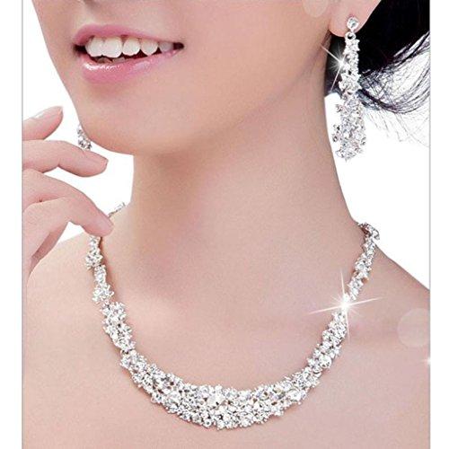 Mujers Collar Pendientes,Xinan Sistemas de la Joyería Cristal de Novi